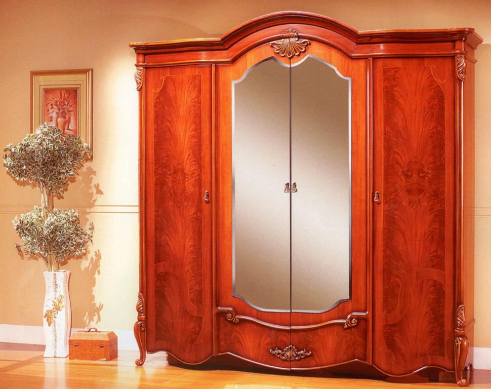 Шкаф 8627 4-дверный Ирида