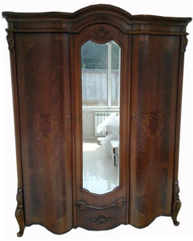 Шкаф 8627 3-дверный орех