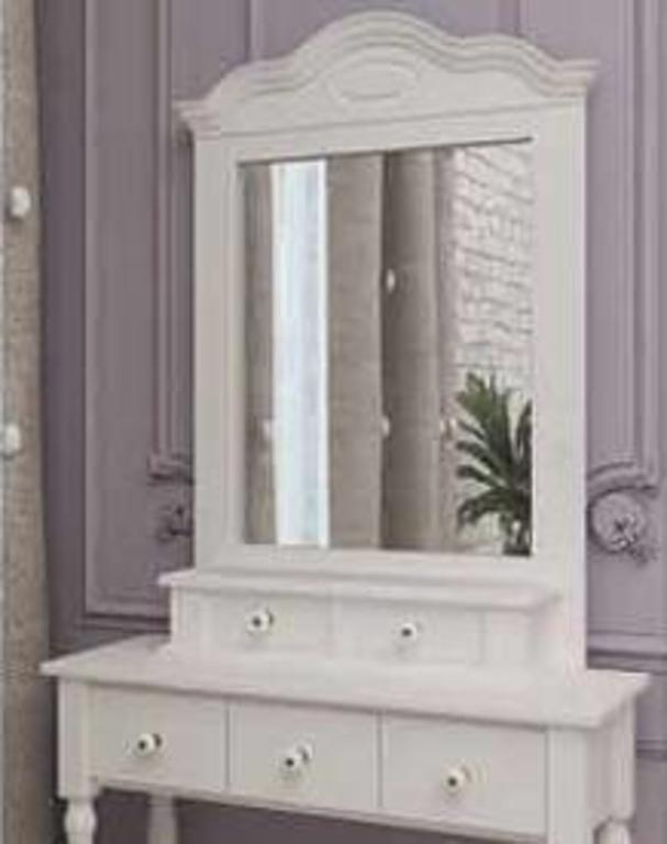 Зеркало Синди белое