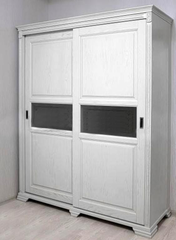 Шкаф купе 2-дверный Кампания с вставками стекла