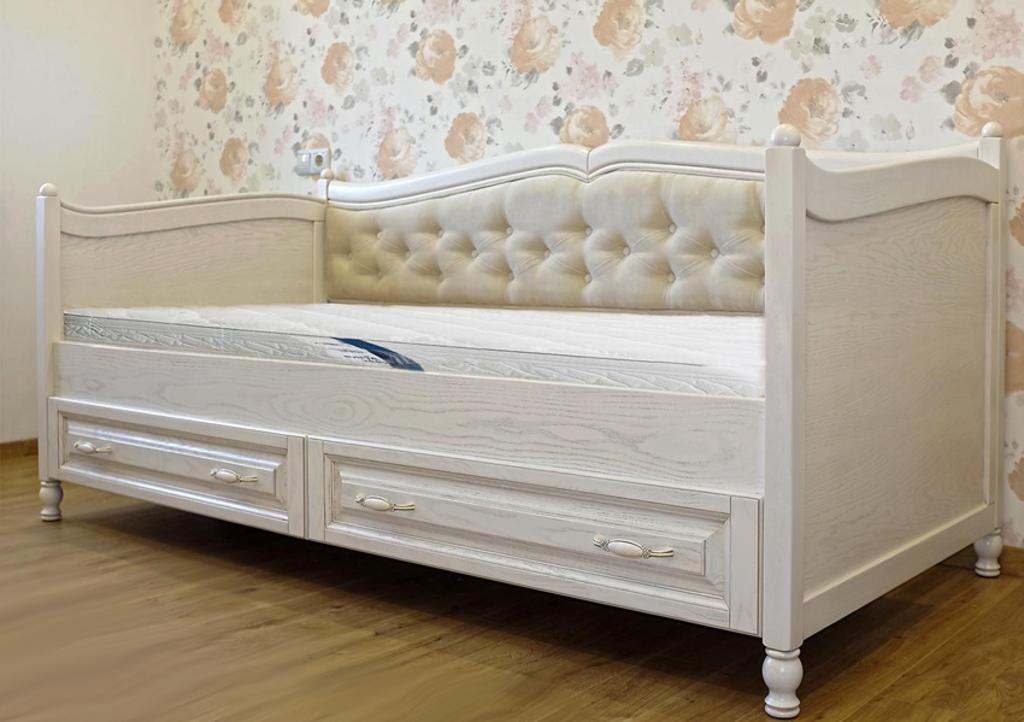 Кровать-диван Риспетто - спинка обтянута тканью