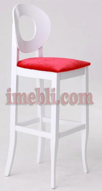 Барный стул Генуя в белом цвете