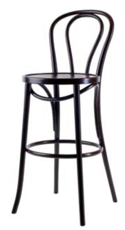 Барный стул Лари с твёрдым сидением