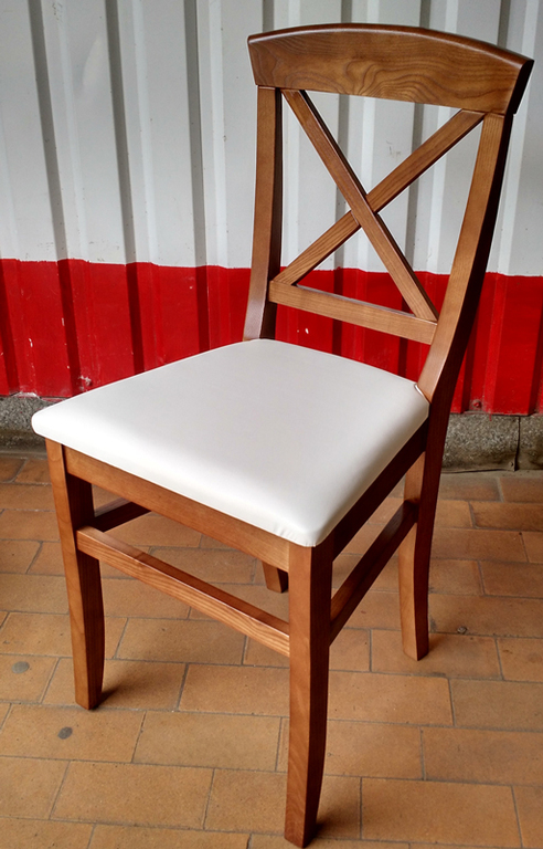 Стул Прованс с белым кожзамом