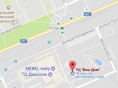 ad0714df3f91 Киев, Левый берег, ул. Беломорская, 2 (метро Лесная, возле ТЦ Дарынок))